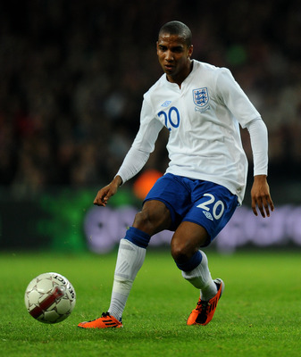 COPENHAGEN, DENMARK - FEBRUARY 09:  Ashley Young of England in action during the International Friendly match between Denmark and England at Parken Stadium on February 9, 2011 in Copenhagen, Denmark.  (Photo by Mike Hewitt/Getty Images)