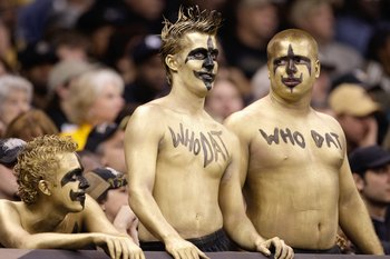 Actually all fans should stay away from body paint. It just looks dumb.