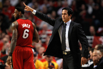 Erik Spoelstra and LeBron James