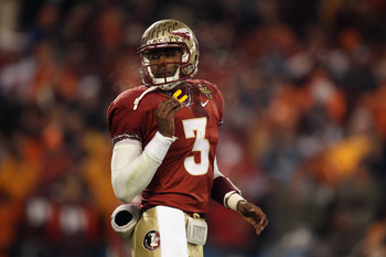 CHARLOTTE, NC - DECEMBER 04:  EJ Manuel #3 of the Florida State Seminoles against the Virginia Tech Hokies during their game at Bank of America Stadium on December 4, 2010 in Charlotte, North Carolina.  (Photo by Streeter Lecka/Getty Images)