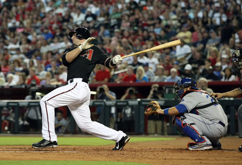 PHOENIX, AZ - AUGUST 06:  Paul Goldschmidt #44 of the Arizona Diamondbacks bats against the Los Angeles Dodgers during the Major League Baseball game at Chase Field on August 6, 2011 in Phoenix, Arizona. The Dodgers defeated the Diamondbacks 5-3.  (Photo