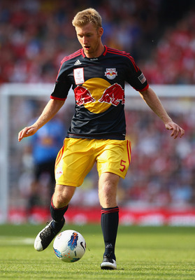 LONDON, ENGLAND - JULY 31:  Tim Ream of New York Red Bulls passes the ball during the Emirates Cup match between Arsenal and New York Red Bulls at the Emirates Stadium on July 31, 2011 in London, England.  (Photo by Richard Heathcote/Getty Images)