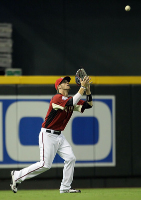 PHOENIX, AZ - JULY 10:  U.S. Futures All-Star Bryce Harper #34 of the Washington Nationals catches a fly ball in the outfield during the 2011 XM All-Star Futures Game at Chase Field on July 10, 2011 in Phoenix, Arizona.  (Photo by Jeff Gross/Getty Images)