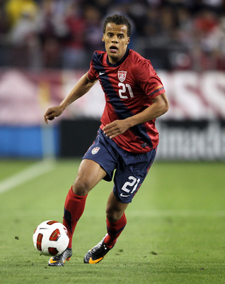 NASHVILLE, TN - MARCH 29:  Timothy Chandler #21 of the United States controls the ball during an international friendly match against Paraguay at LP Field on March 29, 2011 in Nashville, Tennessee.  (Photo by Andy Lyons/Getty Images)
