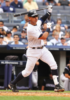NEW YORK, NY - JUNE 25:  Alex Rodriguez #13 of the New York Yankees in action against the Colorado Rockies during their game on June 26, 2011 at Yankee Stadium in the Bronx borough of New York City.  (Photo by Al Bello/Getty Images)
