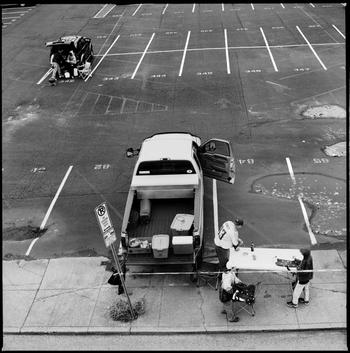 NASHVILLE, TN - DECEMBER 02: Tailgaters setup in a carpark prior to the start of the NFL game between the Houston Texans and the Tennessee Titans on December 02, 2007 at LP Field in Nashville, Tennessee. Born and bred into American sporting culture the ac