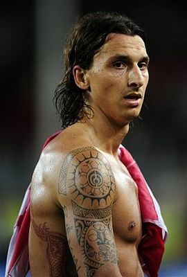 Zlatan Ibrahimovic has a number of large tattoos  and some of them    Clint Dempsey Chest Tattoo
