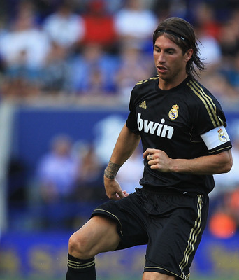 LEICESTER, ENGLAND - JULY 30:  Sergio Ramos of Real Madrid in action during the Pre-Season Friendly match between Leicester City and Real Madrid at The King Power Stadium on July 30, 2011 in Leicester, England.  (Photo by Matthew Lewis/Getty Images)
