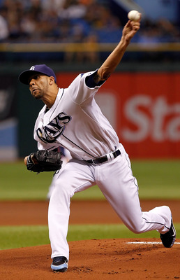 ST PETERSBURG, FL - AUGUST 02:  :  Pitcher David Price #14 of the Tampa Bay Rays pitches against the Toronto Blue Jays during the game at Tropicana Field on August 2, 2011 in St. Petersburg, Florida.  (Photo by J. Meric/Getty Images)