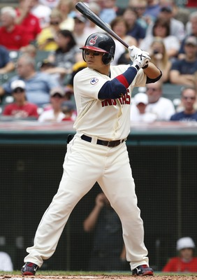 CLEVELAND, OH - JUNE 19:   Shin-Soo Choo #17 of the Cleveland Indians bats against the Pittsburgh Pirates during their game on June 19, 2011 at Progressive Field in Cleveland, Ohio.  The Indians defeated the Pirates 5-2 in 11 innings.  (Photo by David Max