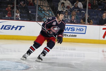 COLUMBUS, OH - JANUARY 11: Chris Clark #71 of the Columbus Blue Jackets skates against the Phoenix Coyotes during a game on January 11, 2011 at the Nationwide Arena in Columbus, Ohio. (Photo by Gregory Shamus/Getty Images)