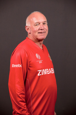 CHENNAI, INDIA - FEBRUARY 11: Alan Butcher, coach of Zimbabwe poses during the team portrait session at the Sheraton Hotel and Tower ahead of the 2011 ICC World Cup on February 11, 2011 in Chennai, India.  (Photo by Graham Crouch/Getty Images)