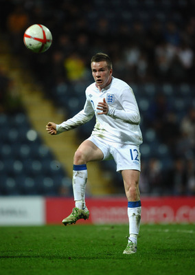 PRESTON, LANCASHIRE - MARCH 28: Tom Cleverley of England in action during the International Friendly match between England U-21 and Iceland U21 at Deepdale on March 28, 2011 in Preston, Lancashire.  (Photo by Laurence Griffiths/Getty Images)