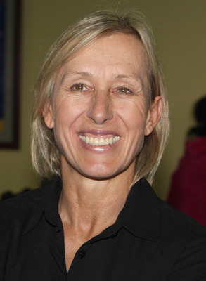 NAIROBI, KENYA - DECEMBER 13:  Martina Navratilova smiles at Nairobi Airport on the return travel day of the Martina Navratilova Mt. Kilimanjaro Climb on December 13, 2010 in Nairobi, Kenya. Martina Navratilova was taken off Kilimanjaro after suffering fr