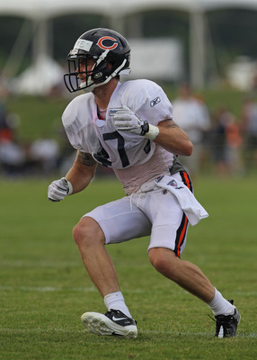 BOURBONNAIS, IL - AUGUST 06:  Chris Conte #47 of the Chicago Bears works out during a summer training camp practice at Olivet Nazarene University on August 6, 2011 in Bourbonnais, Illinois.  (Photo by Jonathan Daniel/Getty Images)
