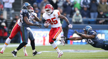 Rocket-heeled Jamaal Charles will compete for most yards this year