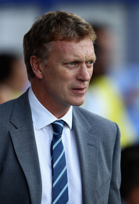 LIVERPOOL, ENGLAND - AUGUST 05:  Everton manager David Moyes during the pre season friendly match between Everton and Villarreal  at Goodison Park on August 5, 2011 in Liverpool, England.  (Photo by Clive Brunskill/Getty Images)