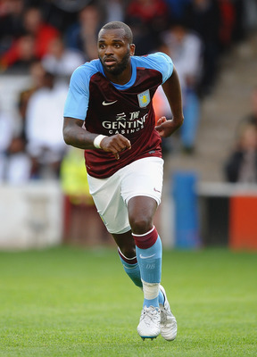 WALSALL, ENGLAND - JULY 21:  Darren Bent of Aston Villa in action during a Pre Season Friendly between Walsall and Aston Villa at Banks' Stadium on July 21, 2011 in Walsall, England.  (Photo by Laurence Griffiths/Getty Images)