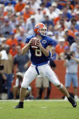 QB Rex Grossman finished his Gator career with 9,164 yards and 77 TD's.