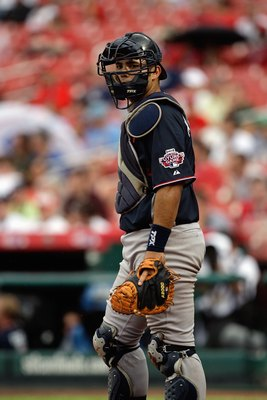 ST. LOUIS, MO - JULY 12:  World Futures All-Star Jesus Montero of the New York Yankees looks on during the 2009 XM All-Star Futures Game at Busch Stadium on July 12, 2009 in St. Louis, Missouri. (Photo by Jamie Squire/Getty Images)