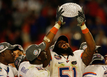 LB Brandon Spikes enjoyed a role on both the 2006 and 2008 BCS National title teams.