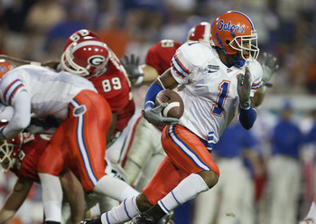 One of the 12 interceptions Keiwan Ratliff had during his career for the University of Florida Gators.
