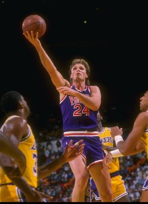 1988-1989:  Forward Tom Chambers of the Phoenix Suns goes up for two during a game. Mandatory Credit: Mike Powell  /Allsport Mandatory Credit: Mike Powell  /Allsport