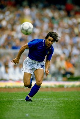 31 May 1986:  Bruno Conti of Italy in action during the World Cup Finals match against Bulgaria played at the Azteca Stadium in Mexico City, Mexico. The match ended in a 1-1 draw. \ Mandatory Credit: David  Cannon/Allsport
