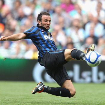 DUBLIN, IRELAND - JULY 30:  Giampolo Pazzini of Inter Milan controls the ball during the Dublin Super Cup match between Celtic and Inter Milan at the Aviva Stadium on July 30, 2011 in Dublin, Ireland.  (Photo by David Rogers/Getty Images)