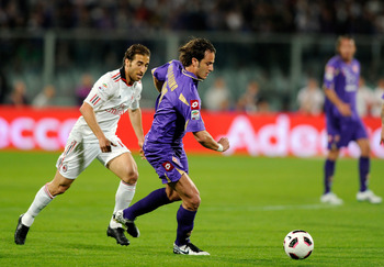 FLORENCE, ITALY - APRIL 10:  Alberto Gilardino of ACF Fiorentina during the Serie A match between ACF Fiorentina and AC Milan at Stadio Artemio Franchi on April 10, 2011 in Florence, Italy.  (Photo by Claudio Villa/Getty Images)