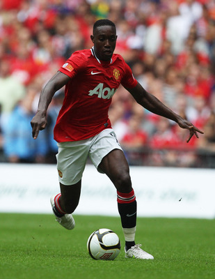 LONDON, ENGLAND - AUGUST 07:  Danny Welbeck of Manchester United in action during the FA Community Shield match sponsored by McDonald's between Manchester City and Manchester United at Wembley Stadium on August 7, 2011 in London, England.  (Photo by Clive