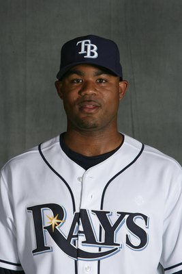 ST. PETERSBURG, FL - FEBRUARY 22:  Carl Crawford of the Tampa Bay Rays poses during Photo Day on February 22, 2008 at the Raymond A. Naimoli Baseball Complex in St. Petersburg, Florida. (Photo by Nick Laham/Getty Images)