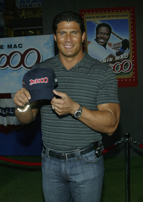 HOLLYWOOD, CA - SEPTEMBER 8:  Former baseball player Jose Canseco attends the film premiere of 'Mr. 3000' at the El Capitan Theatre on September 8, 2004 in Hollywood, California.  (Photo by Frederick M. Brown/Getty Images).