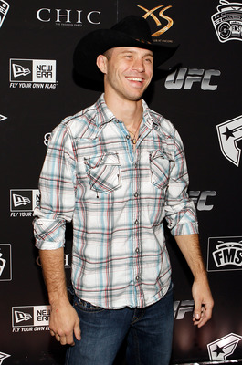 LAS VEGAS - FEBRUARY 15:  UFC fighter Donald 'Cowboy' Cerrone arrives at UFC, Famous Stars and Straps and New Era's 'The Magic Party' at XS the nightclub on February 15, 2011 in Las Vegas, Nevada.  (Photo by Isaac Brekken/Getty Images)