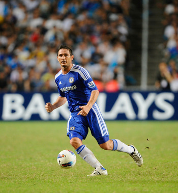 SO KON PO, HONG KONG - JULY 30: Frank Lampard of Chelsea in action during the Asia Trophy Final match aganist Aston Villa at the Hong Kong Stadium on July 30, 2011 in So Kon Po, Hong Kong.  (Photo by Victor Fraile/Getty Images)