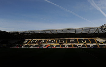 SWANSEA, WALES - APRIL 12:  A general view of Liberty Stadium used by both Swansea City and Ospreys Rugby on April 12, 2011 in Swansea, Wales.  (Photo by Stu Forster/Getty Images)
