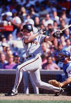 8 Jul 1994: GIANTS third BASEMAN MATT WILLIAMS FOLLOWS THROUGH ON A SWING AGAINST THE CUBS AT WRIGLEY FIELD IN CHICAGO.