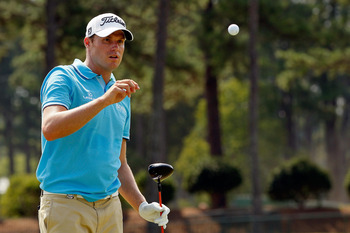 JOHNS CREEK, GA - AUGUST 09:  Nick Watney during a practice round prior to the start of the 93rd PGA Championship at the Atlanta Athletic Club on August 9, 2011 in Johns Creek, Georgia.  (Photo by Kevin C. Cox/Getty Images)