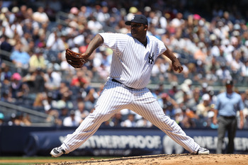 NEW YORK, NY - JULY 10:  CC Sabathia of the New York Yankees agianst the Tampa Bay Rays at Yankee Stadium on July 10, 2011 in the Bronx borough of New York City.  (Photo by Nick Laham/Getty Images)