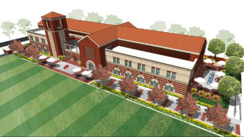 USC's new $70 million Athletic Center will expand Heritage Hall and house the football coaches' offices, football team and position meeting rooms and a video production facility