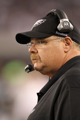 ARLINGTON, TX - DECEMBER 12:  Head coach Andy Reid of the Philadelphia Eagles at Cowboys Stadium on December 12, 2010 in Arlington, Texas.  (Photo by Ronald Martinez/Getty Images)