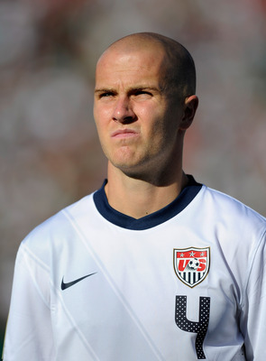 PASADENA, CA - JUNE 25:   Michael Bradley #4 of United States during the 2011 CONCACAF Gold Cup Championship against Mexico at the Rose Bowl on June 25, 2011 in Pasadena, California.  (Photo by Kevork Djansezian/Getty Images)