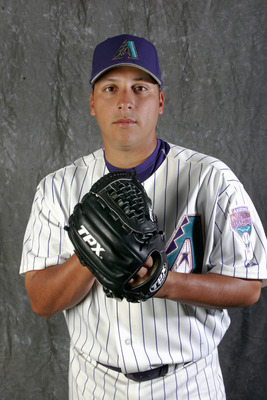 TUCSON, AZ - FEBRUARY 24:  Russ Ortiz poses during Arizona Diamondbacks Photo Day on February 24, 2006 at the Kino Sports Complex in Tucson, Arizona.  (Photo by Stephen Dunn /Getty Images)