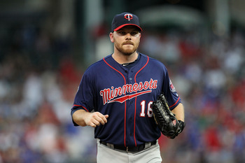 ARLINGTON, TX - JULY 28:  Jason Kubel #16 of the Minnesota Twins at Rangers Ballpark in Arlington on July 28, 2011 in Arlington, Texas.  (Photo by Ronald Martinez/Getty Images)