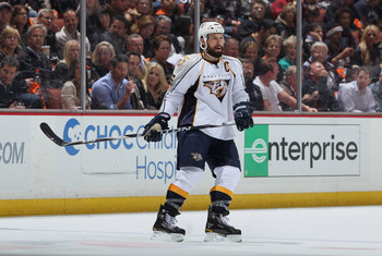 ANAHEIM, CA - APRIL 13:  Shea Weber #6 of the Nashville Predators skates against the Anaheim Ducks in Game One of the Western Conference Quarterfinals during the 2011 NHL Stanley Cup Playoffs at Honda Center on April 13, 2011 in Anaheim, California. The P