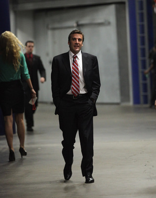 TAMPA, FL - MAY 04: Washington Capitals general manager George McPhee arrives for his team's game against the Tampa Bay Lightning in Game Four of the Eastern Conference Semifinals during the 2011 NHL Stanley Cup Playoffs at the St Pete Times Forum on May
