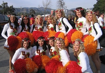 USC Song Girls look forward to an improved Trojan team in 2011