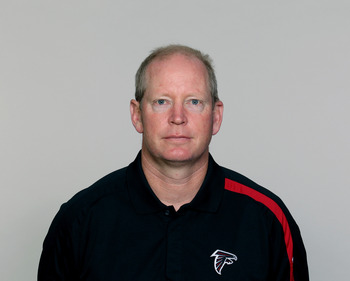 FLOWERY BRANCH, GA - CIRCA 2010: In this handout image provided by the NFL,  Bill Musgrave of the Atlanta Falcons poses for his NFL headshot circa 2010 at the Falcons Football Facility in Flowery Branch, Georgia.  (Photo by NFL via Getty Images)