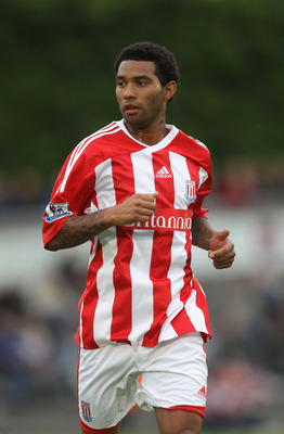 NEWCASTLE UNDER LYME, ENGLAND - JULY 20:  Jermaine Pennant of Stoke City looks on during the pre season friendly match between Newcastle Town and Stoke City on July 20, 2011 in Newcastle under Lyme, England.  (Photo by David Rogers/Getty Images)