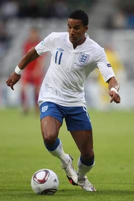 VIBORG, DENMARK - JUNE 19:  Scott Sinclair of England during the UEFA European Under-21 Championship Group B match between England and Czech Republic at the Viborg Stadium on June 19, 2011 in Viborg, Denmark.  (Photo by Michael Steele/Getty Images)